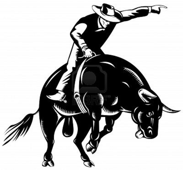 Bull Riding Clipart.