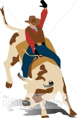 Cowboy Bull Rider Clipart.