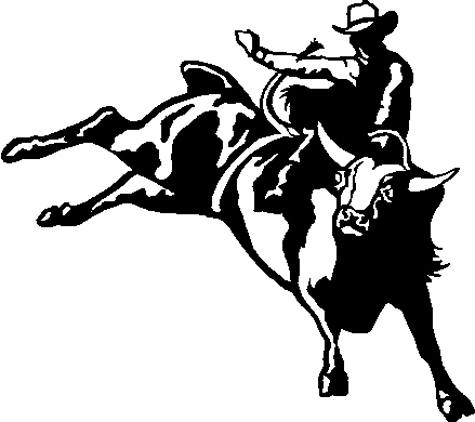 Bull Rider Clipart.