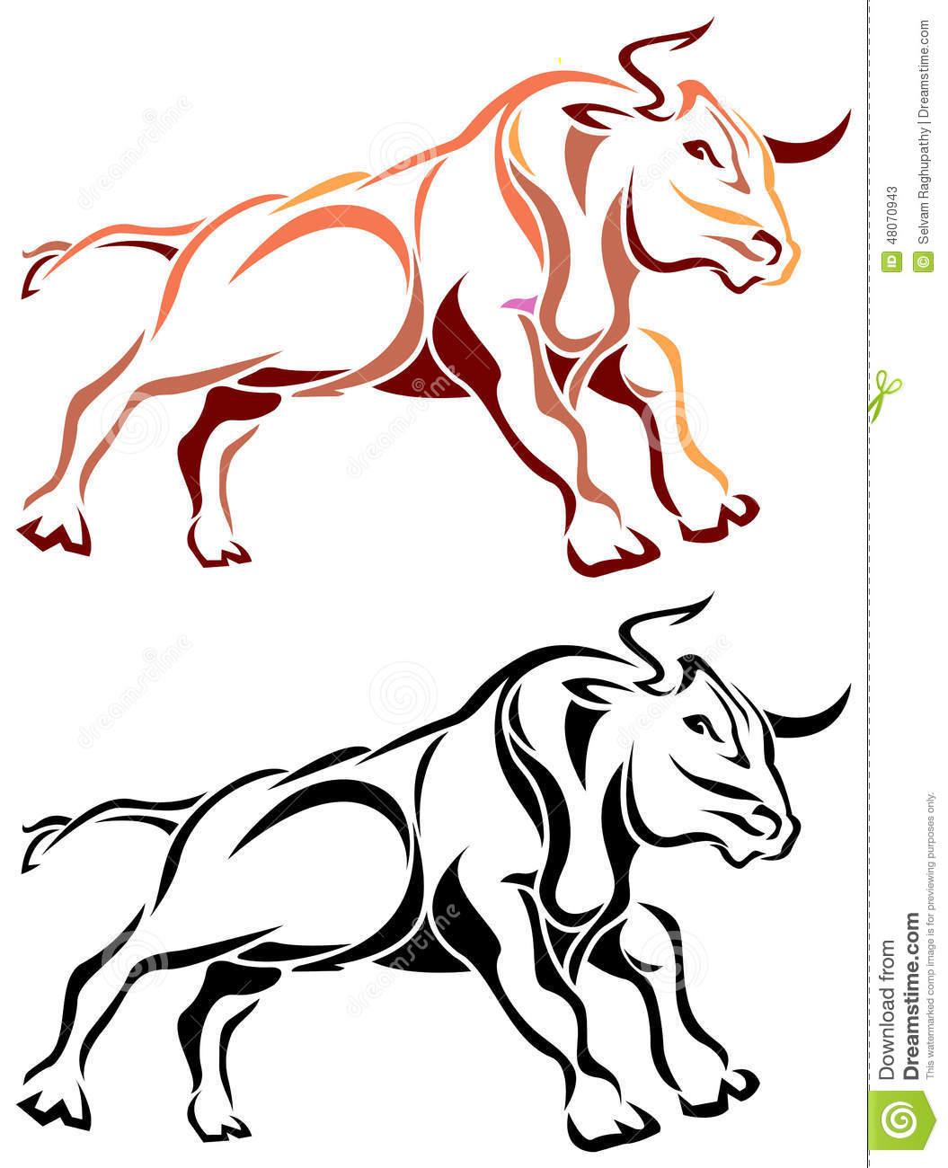 Bull Run Stock Vector.