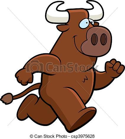 Vector of Bull Running.