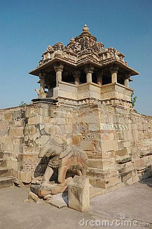 Nandi (bull) Temple At Khajuraho,India Stock Photography.