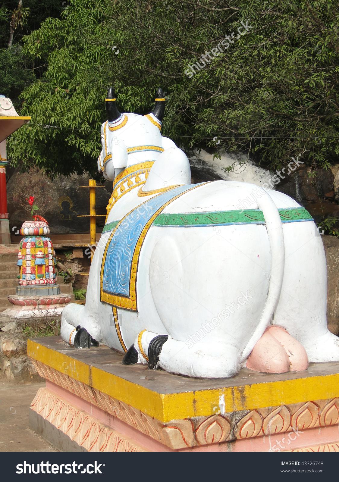 Statue Nandi Bull Outside Shiva Temple Stock Photo 43326748.
