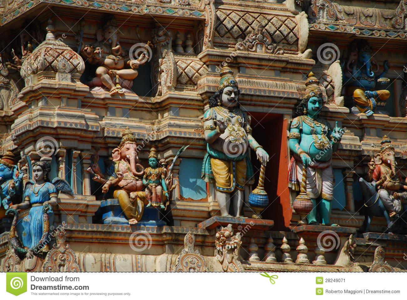 Bull Temple Detail, Bangalore, India Stock Image.
