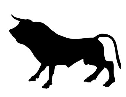 Amazon.com: Home Comforts Laminated Poster Bull Silhouette.