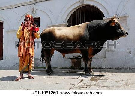Stock Photography of Nepal, City of Kathmandu, Pashupatinath.