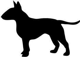Bull Terrier Silhouette Clipart.