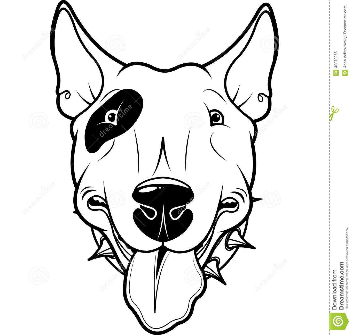 Bull terrier clipart.