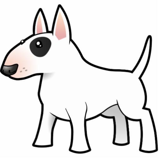 Cartoon Bull Terrier.