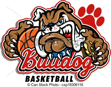 Vector Clip Art of bulldog basketball design csp18306116.
