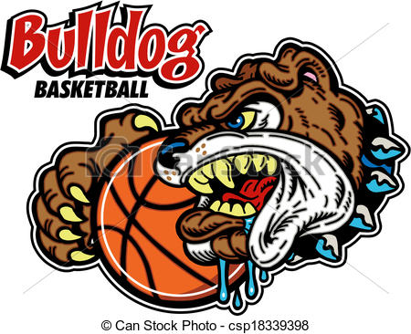 Bulldog Basketball Clipart.