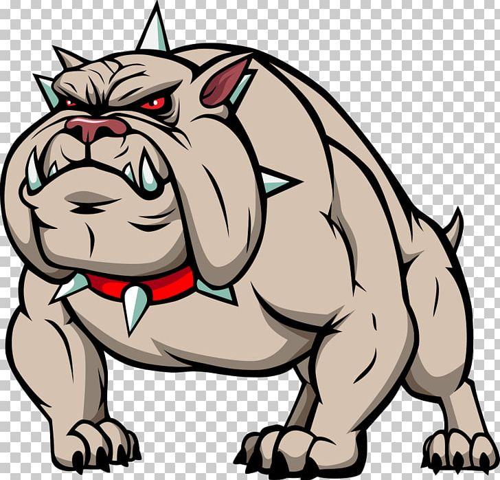 Bulldog Cartoon PNG, Clipart, Animal, Artwork, Carnivoran.