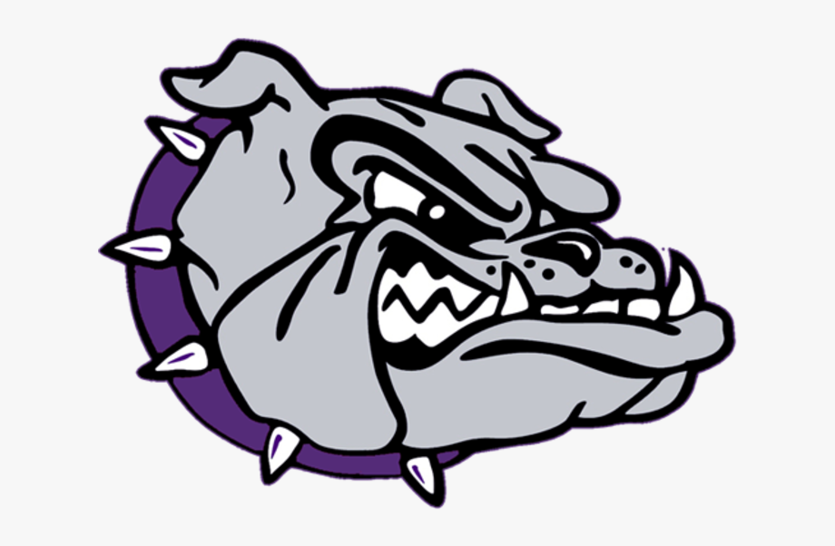 Bulldog Clipart Purple.