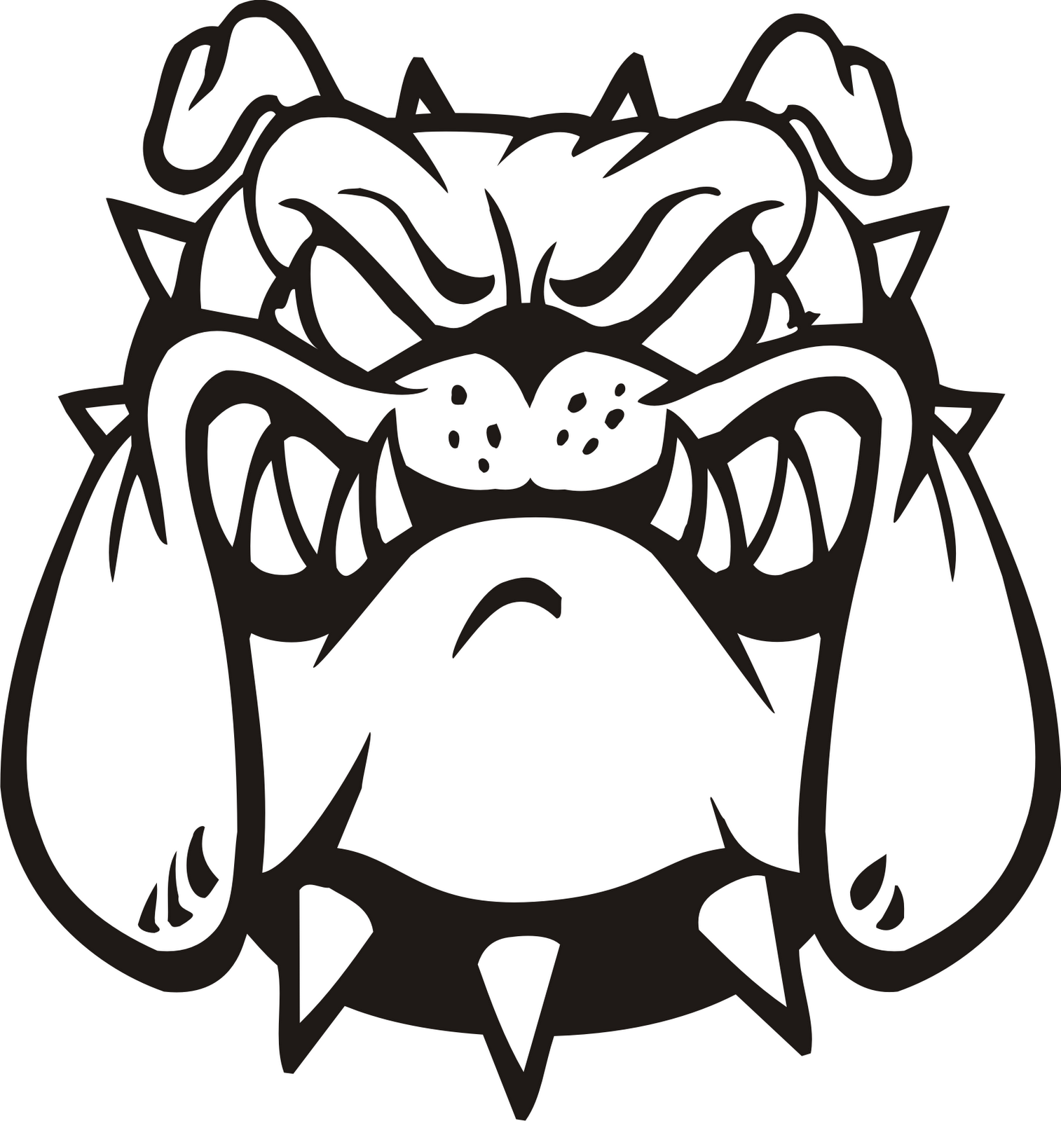 Bulldog vector art free download clip on clipart.