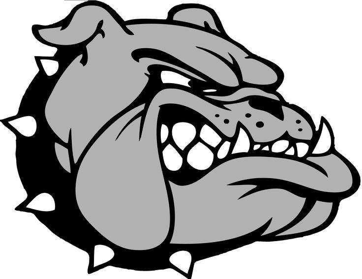Bulldog Black And White Clipart