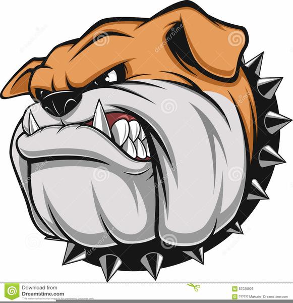 Free Bulldog Head Clipart.
