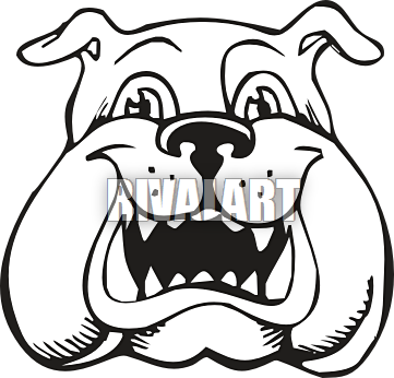 Bulldog Mascots Clipart.