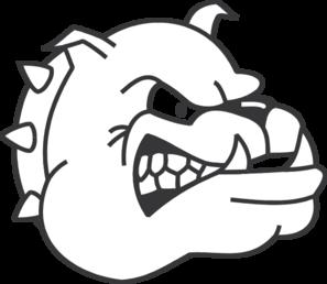 Angry Bulldog Outline Clip Art at Clker.com.