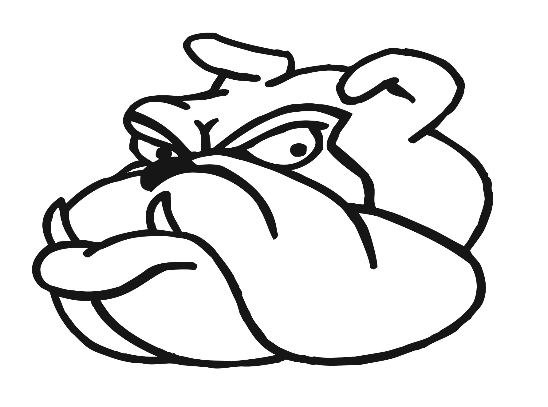 bulldog outline clipart 20 free Cliparts | Download images ...
