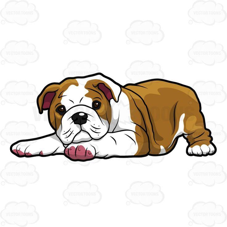 Bulldog Puppy Clipart.