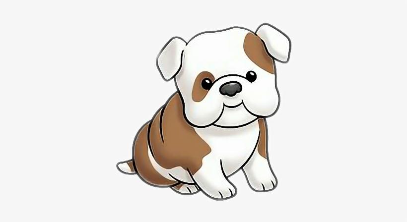 Bulldog Puppy Clipart PNG Image.