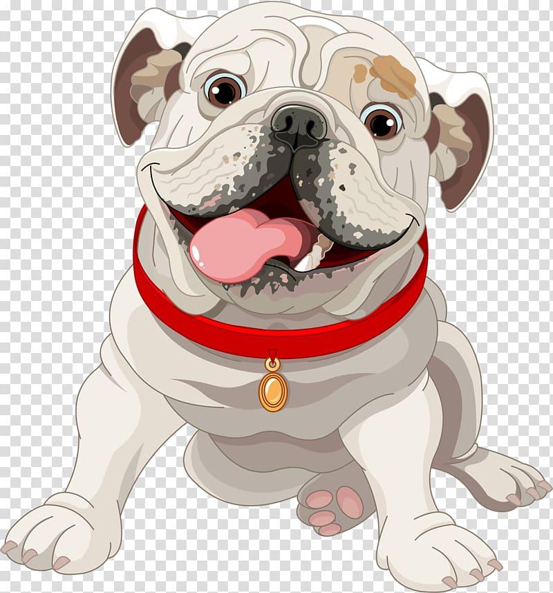 Beige pug illustration, French Bulldog Puppy Illustration.