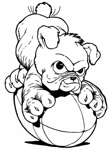 Bulldog puppies clipart.