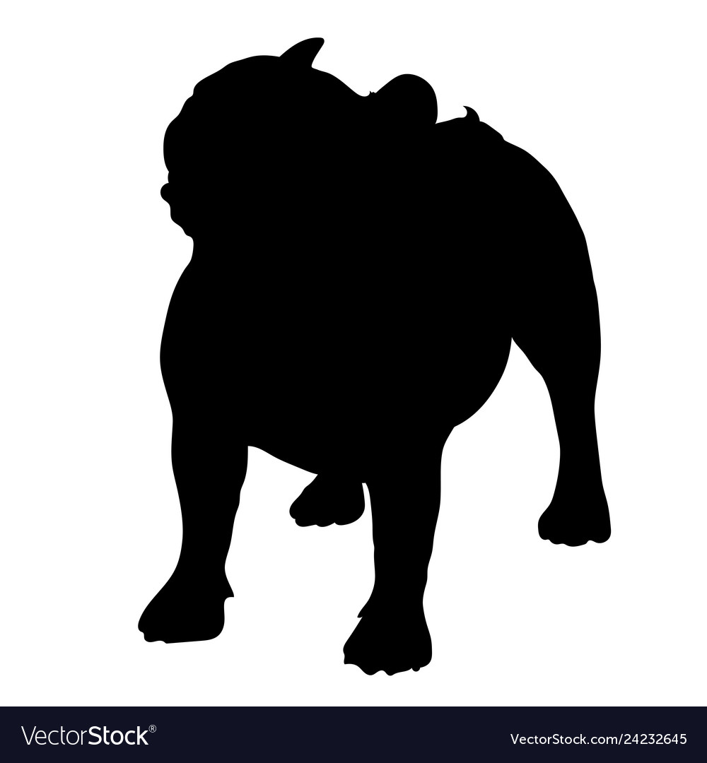 French bulldog silhouette.