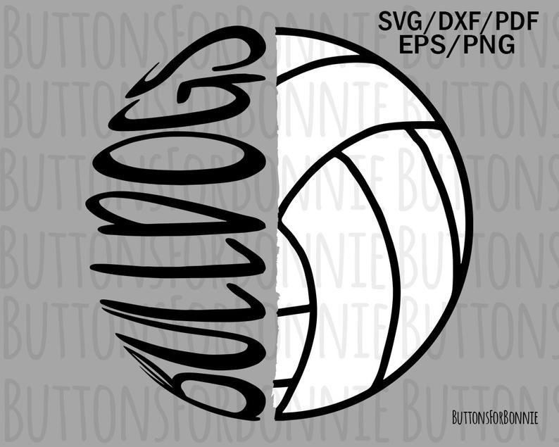 bulldogs volleyball svg, volleyball svg, volleyball mom svg, cut file,  volleyball shirt, school spirit, sport svg, bulldog svg, iron on.