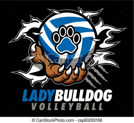 lady bulldog volleyball.