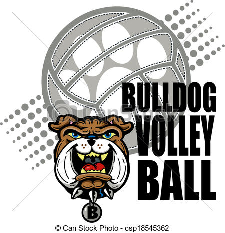 Bulldog volleyball Clip Art Vector Graphics. 50 Bulldog volleyball.