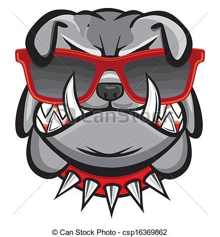 Bulldog With Sunglasses Clipart.