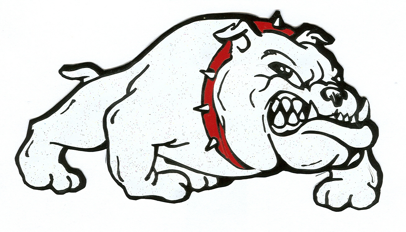 Bulldog word clipart 2.