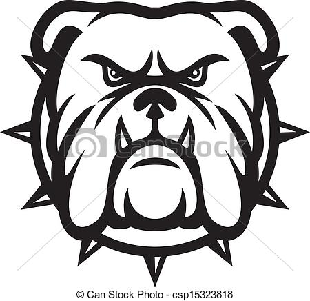 Bulldog And Dog Face Clipart.