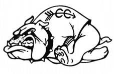 cross country bulldogs clipart.