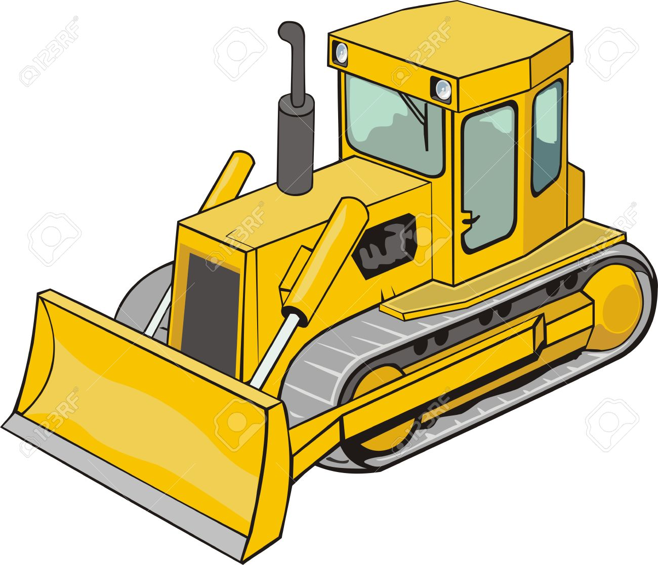 373 Bulldozer free clipart.