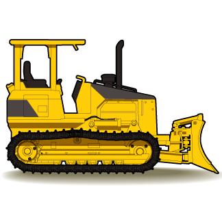 Cat bulldozer clipart.