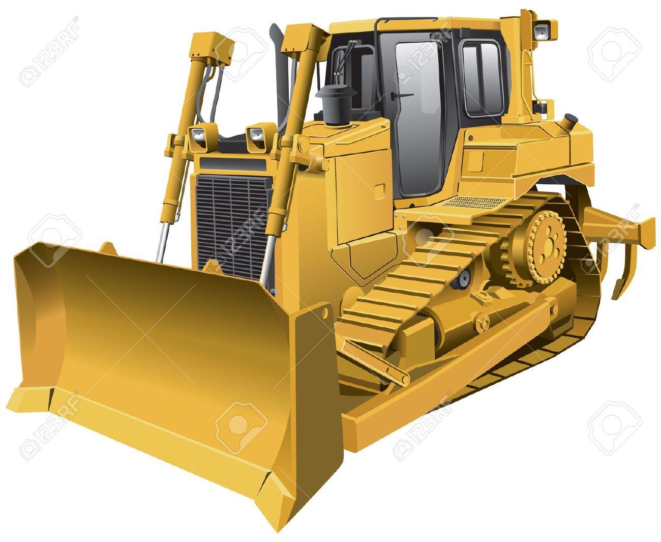 Caterpillar bulldozer clipart.
