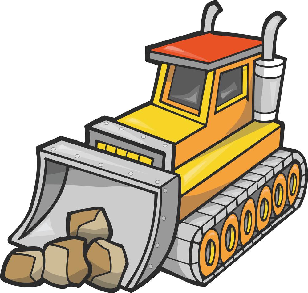 Bulldozer Clipart.