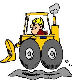 Animated bulldozer clipart.