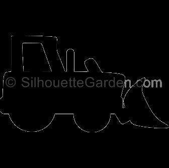 bulldozer silhouette clipart - Clipground