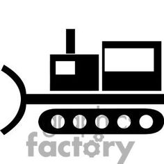 Bulldozer silhouette clip art. Download free versions of the image.