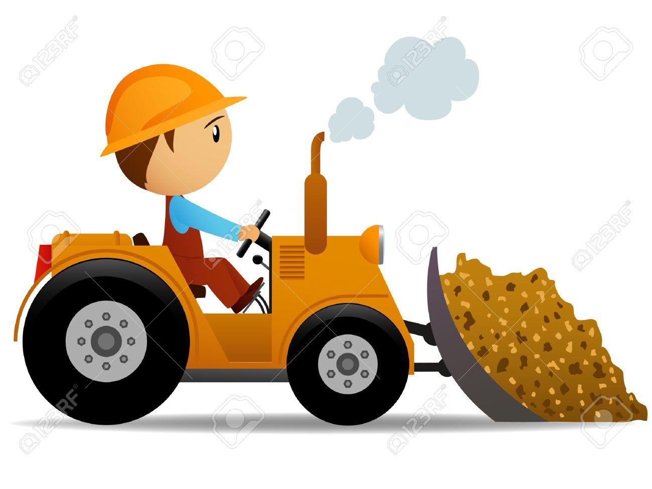 Cartoon bulldozer clipart.