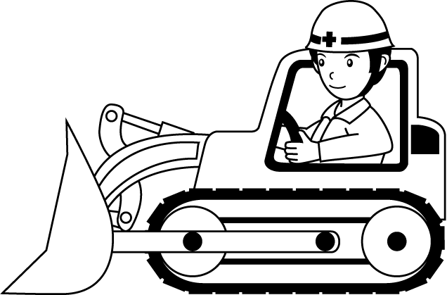 Clip Art Outlines Of Bulldozers Clipart.