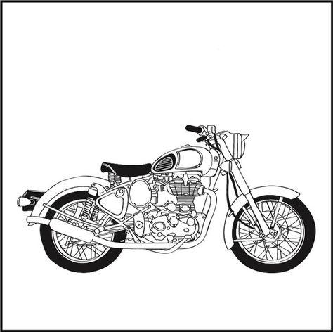 Bullet Bike Clipart Black And White.