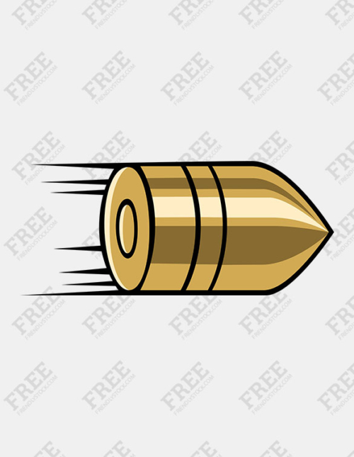 Free Graphic] Flying Bullet.