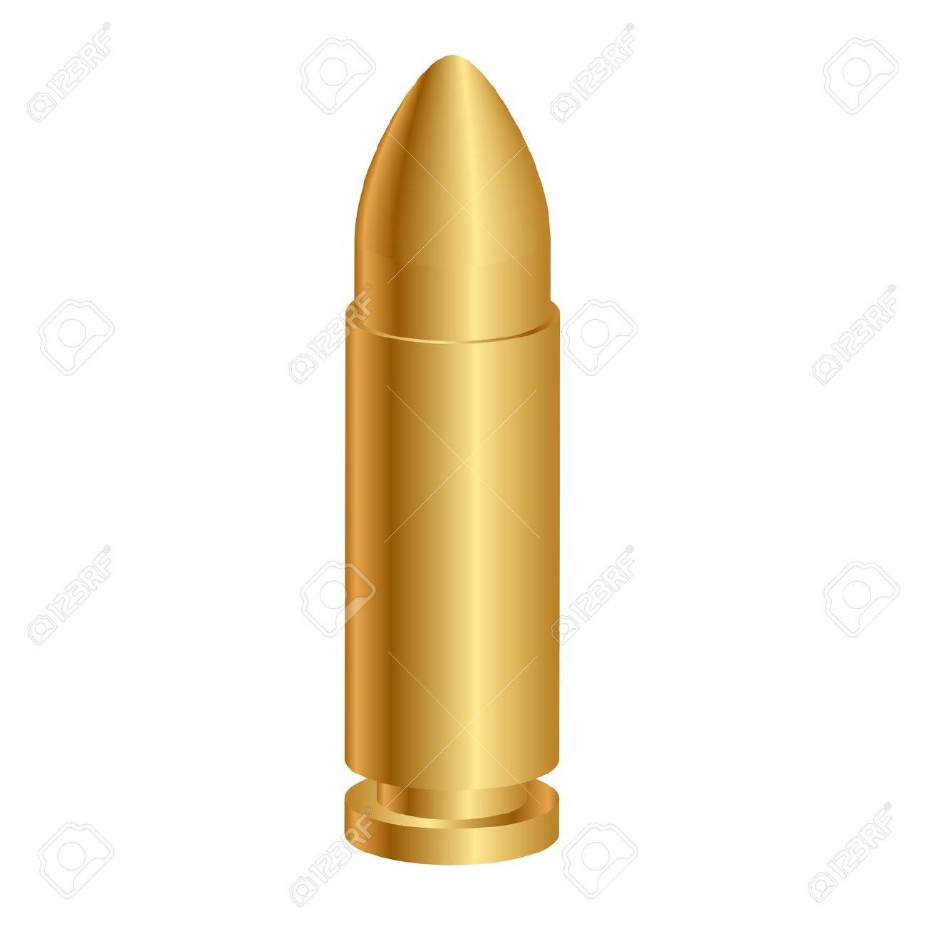 Vector Illustration Of 3d Bullet Royalty Free Cliparts, Vectors.