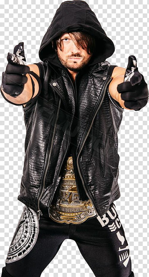 AJ Styles Bullet Club IWGP Heavyweight Champ transparent.