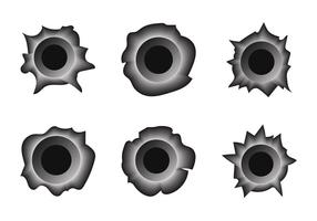 Bullet Holes Free Vector Art.