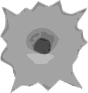Bullet Hole clip art Free Vector / 4Vector.